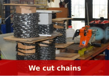 We make chains for all makes of chainsaws
