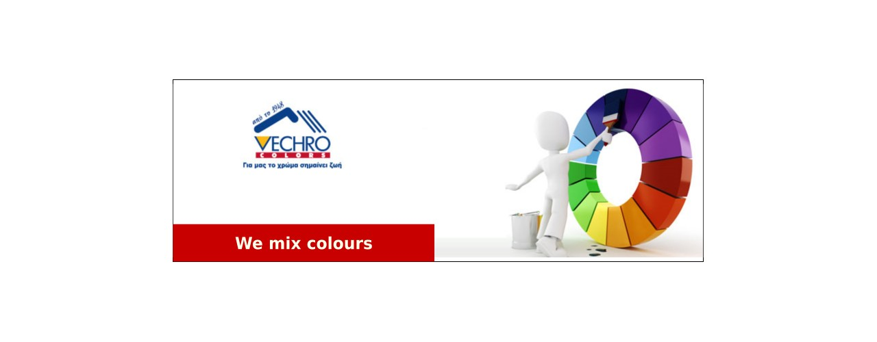 We mix paints in thousands of colours
